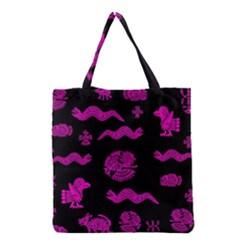 Aztecs pattern Grocery Tote Bag