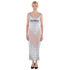 Snow Pattern 5 C2 170506 Fitted Maxi Dress