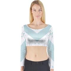 Snow Pattern 5 170506 Long Sleeve Crop Top