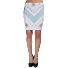 Snow Pattern 5 170506 Bodycon Skirt