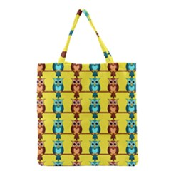 Owls pattern            Grocery Tote Bag