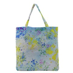 Watercolors splashes              Grocery Tote Bag