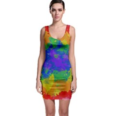 Colorful paint texture           Bodycon Dress