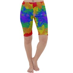 Colorful Paint Texture           Cropped Leggings