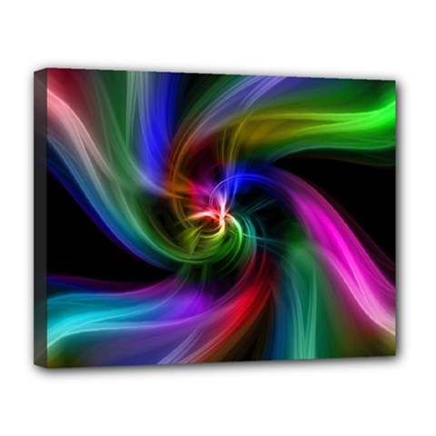 Abstract Art Color Design Lines Canvas 14  X 11