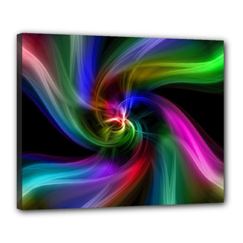 Abstract Art Color Design Lines Canvas 20  x 16