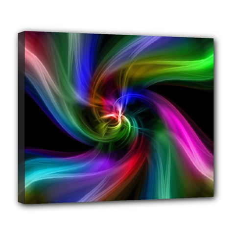 Abstract Art Color Design Lines Deluxe Canvas 24  X 20