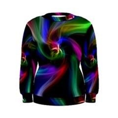 Abstract Art Color Design Lines Women s Sweatshirt