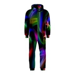 Abstract Art Color Design Lines Hooded Jumpsuit (Kids)