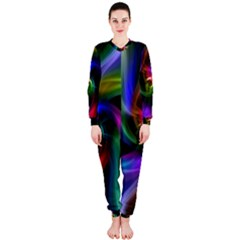 Abstract Art Color Design Lines Onepiece Jumpsuit (ladies)