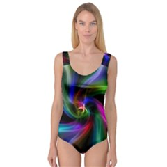 Abstract Art Color Design Lines Princess Tank Leotard
