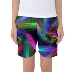 Abstract Art Color Design Lines Women s Basketball Shorts