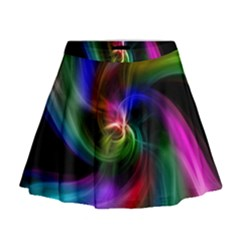 Abstract Art Color Design Lines Mini Flare Skirt