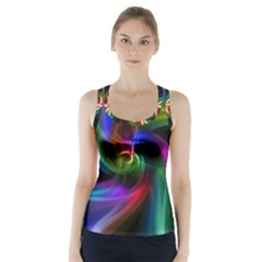 Abstract Art Color Design Lines Racer Back Sports Top
