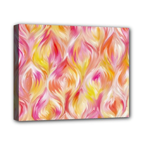 Pretty Painted Pattern Pastel Canvas 10  x 8