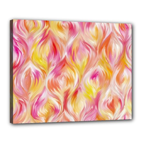 Pretty Painted Pattern Pastel Canvas 20  X 16