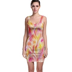 Pretty Painted Pattern Pastel Sleeveless Bodycon Dress