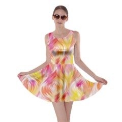 Pretty Painted Pattern Pastel Skater Dress