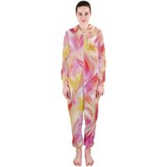 Pretty Painted Pattern Pastel Hooded Jumpsuit (Ladies)