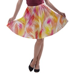 Pretty Painted Pattern Pastel A-line Skater Skirt