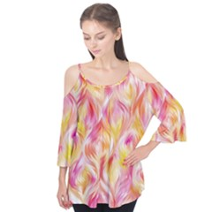 Pretty Painted Pattern Pastel Flutter Tees
