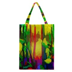 Abstract Vibrant Colour Botany Classic Tote Bag