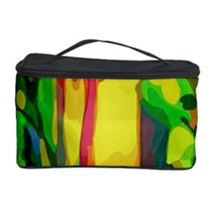 Abstract Vibrant Colour Botany Cosmetic Storage Case