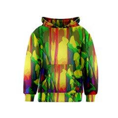 Abstract Vibrant Colour Botany Kids  Pullover Hoodie
