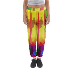 Abstract Vibrant Colour Botany Women s Jogger Sweatpants