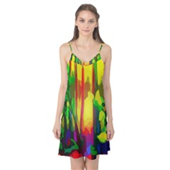 Abstract Vibrant Colour Botany Camis Nightgown