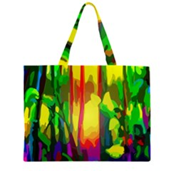 Abstract Vibrant Colour Botany Large Tote Bag
