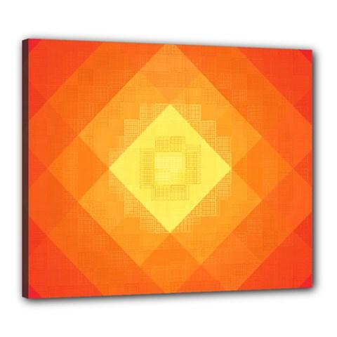 Pattern Retired Background Orange Canvas 24  x 20