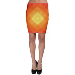 Pattern Retired Background Orange Bodycon Skirt