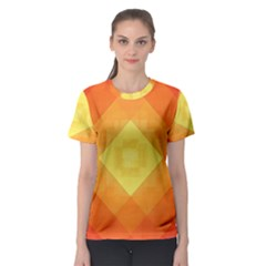 Pattern Retired Background Orange Women s Sport Mesh Tee