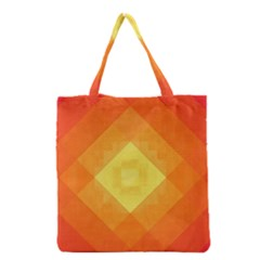 Pattern Retired Background Orange Grocery Tote Bag