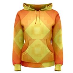 Pattern Retired Background Orange Women s Pullover Hoodie