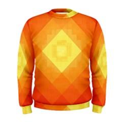 Pattern Retired Background Orange Men s Sweatshirt
