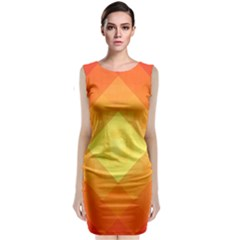 Pattern Retired Background Orange Classic Sleeveless Midi Dress
