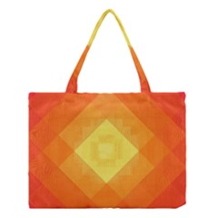 Pattern Retired Background Orange Medium Tote Bag