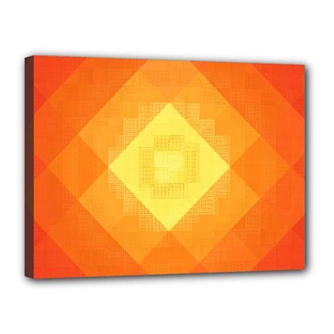 Pattern Retired Background Orange Canvas 16  X 12
