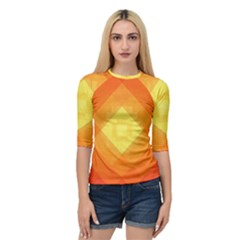 Pattern Retired Background Orange Quarter Sleeve Tee