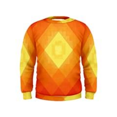 Pattern Retired Background Orange Kids  Sweatshirt