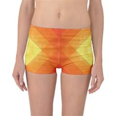 Pattern Retired Background Orange Boyleg Bikini Bottoms