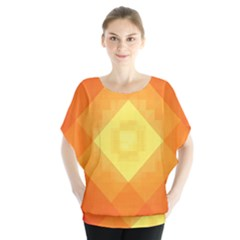 Pattern Retired Background Orange Blouse