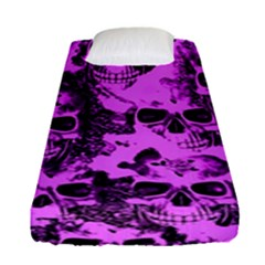 Cloudy Skulls Pink Fitted Sheet (Single Size)