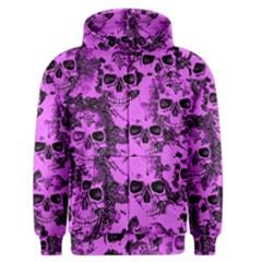Cloudy Skulls Pink Men s Zipper Hoodie