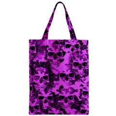 Cloudy Skulls Pink Zipper Classic Tote Bag