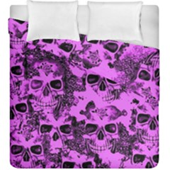 Cloudy Skulls Pink Duvet Cover Double Side (King Size)
