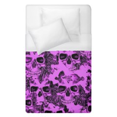 Cloudy Skulls Pink Duvet Cover (Single Size)