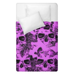 Cloudy Skulls Pink Duvet Cover Double Side (Single Size)